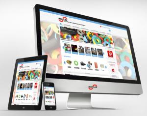 Site web affiché sur un écran de bureau, une tablette et un téléphone
