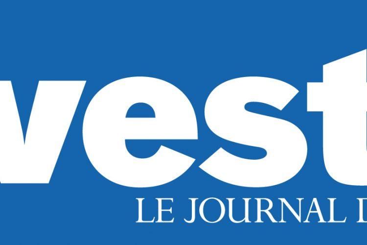 """Le logo du journal des finance intitulé """"Investir"""""""
